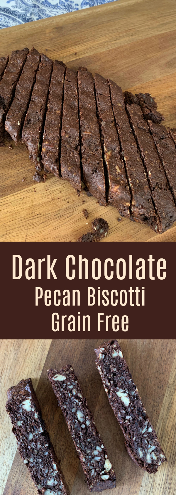 Dark Chocolate Pecan Biscotti Grain Free
